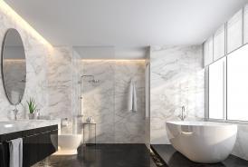 Bac à douche en pierre naturelle pour une salle de bain moderne