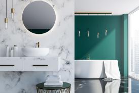 Vasque de salle de bain en marbre
