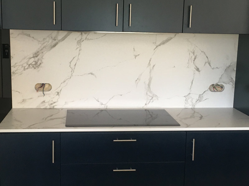 réalisation de plan de travail de cuisine en marbre