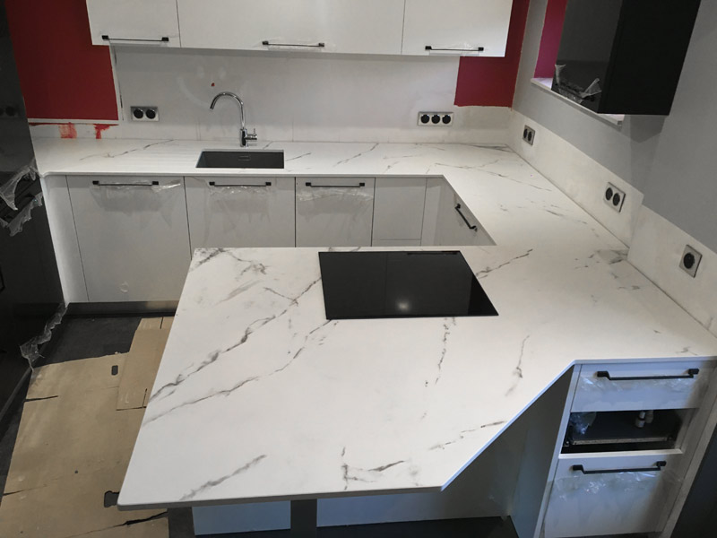 fabricationde plan de travail de cuisine en marbre