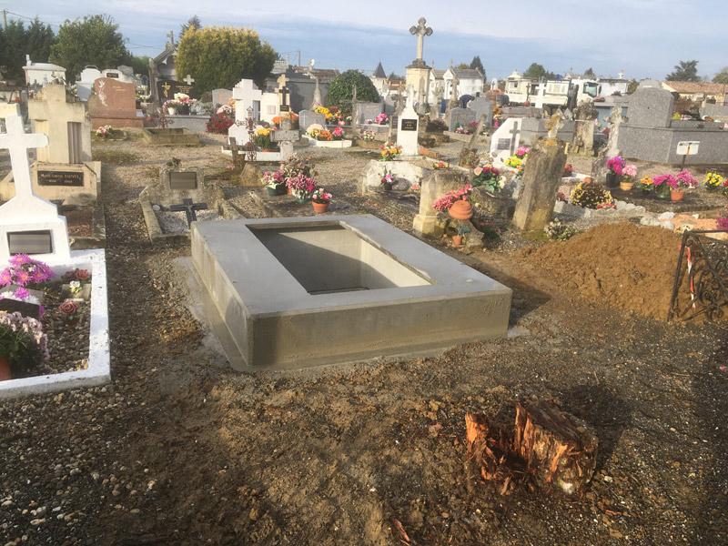 Marbrerie Cryslo : création de caveau funéraire à Virazeil